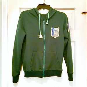 Attack on Titan Survey Corps Green Hoodie Anime